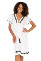 Back From Bali Womens Boho V Neck Beach Dress Loose Fit Casual Embroider... - $57.42+