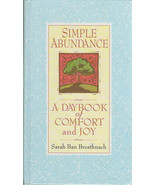 Simple Abundance A Daybook of Comfort and Joy 1995 hardback book - $2.50
