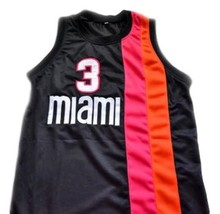 Dwyane Wade #3 Miami Floridians Basketball Custom Jersey Sewn Black Any Size image 4