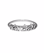 Silver Namaste Ring, Solid 925 Sterling Silver Jewelry, Namaste Namaskar... - £11.06 GBP