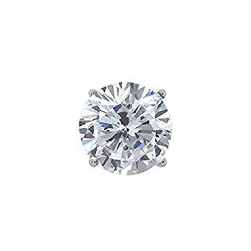 0.75CT Round H/I SI1-SI2 Diamond 14K White Gold Men's Single Stud Earring