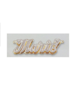 Personalized Gold Overlay Double 3d Name Plate Necklace Free Chain /bk1 - $39.99