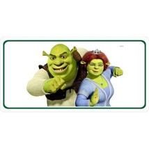 shrek and fiona dreamworks animated movie color metal license plate usa ... - $28.49