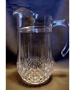 """Cristal d'Arques Longchamp Crystal Pitcher 9"""" Plus Two Matching Water Gl... - $29.99"""
