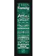 """Slippery Rock University - 24 x 8 """"Family Cheer"""" Framed Print - $39.95"""
