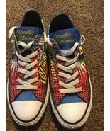 CONVERSE Shoes WONDER WOMAN DC Comics Womens 7 Mens 5 Super Hero Sneakers - $59.39