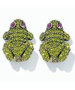 ONE-OF-A-KIND Heidi Daus Kissing Frog Earrings - $83.11 CAD