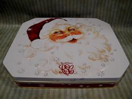 SANTA CLAUS Chocolates Tin Collectible CHRISTMAS Russell Stover Collector  - $9.95