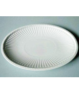 Wedgwood Edme White Queen's Ware Oval Gravy Boat Stand Underplate Ribbed... - $24.90