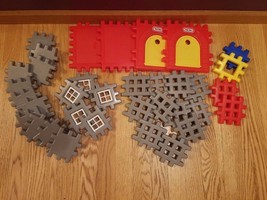 Huge Lot Vintage Little Tikes Waffle Blocks Cas... - $48.37