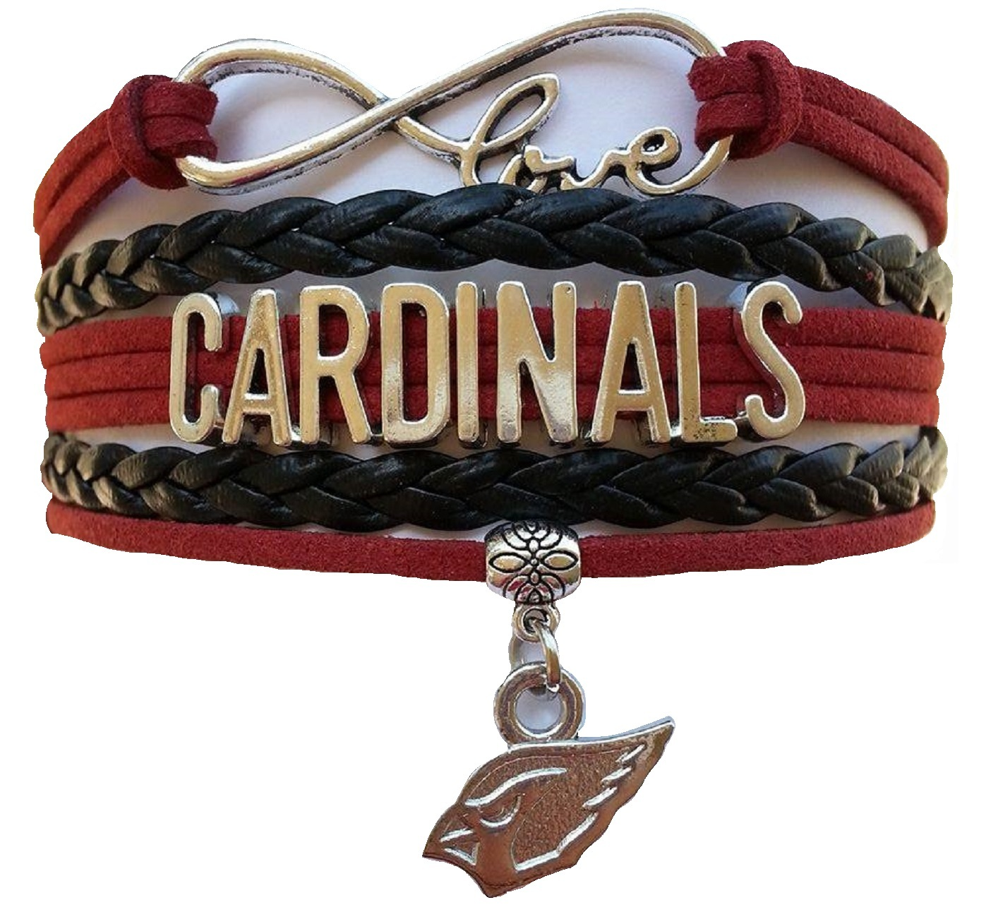 Arizona Cardinals Football Fan Shop Infinity Bracelet Jewelry