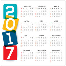 2017 Color Block Calendar Poster – School Busin... - $14.50