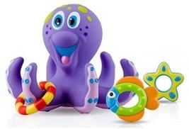 Nuby Octopus Hoopla Bathtime Fun Toys, Purple - $19.53