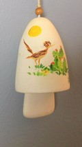 """Vintage Wind Chime Road Runner and Cacti Hand Painted 4.75"""" Plus Clapper - $21.00"""