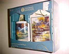 Sherwood Brands Thomas Kinkade Inspirational Ceramic Wall Plaque & Mug 2010 New - $24.74
