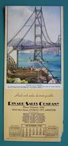 INK BLOTTER AD 1939 - Rivard Sales Co. Kansas City MO & Golden Gate Brid... - $4.49