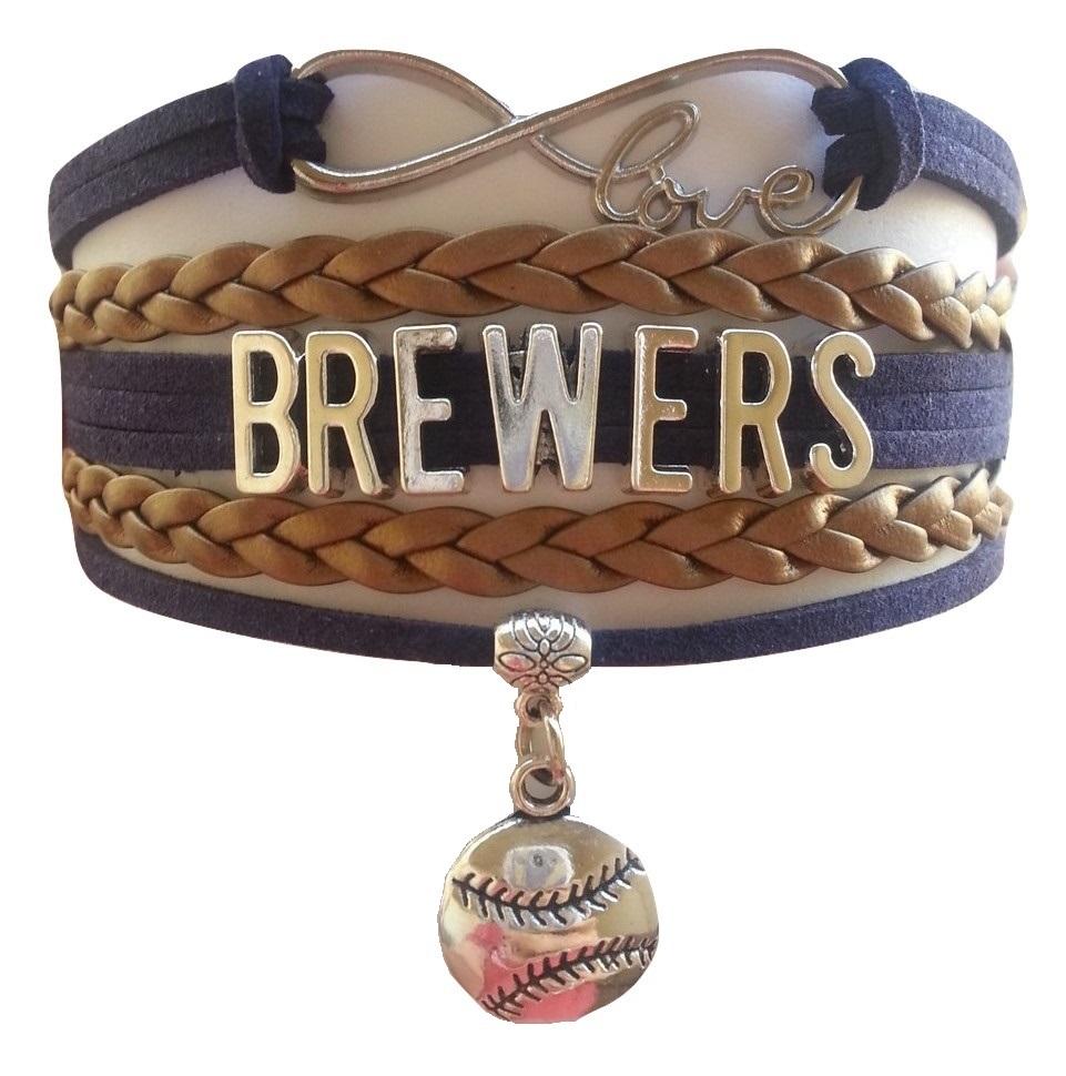 Milwaukee Brewers Baseball Fan Shop Infinity Bracelet