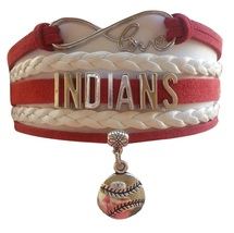 Cleveland Indians Baseball Fan Shop Infinity Bracelet Jewelry - $11.99