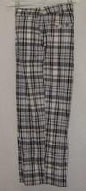 Briggs New York Capri Pants White Gray Checked Cotton Blend Size 16 EUC - $6.79
