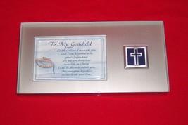 Dicksons To My Godchild Silver Tone Metal Plaque #PF-2563 NEW - $7.69