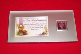 Dicksons Your First Holy Communion Silver Tone Metal Plaque #PF-2560 NEW - $7.69