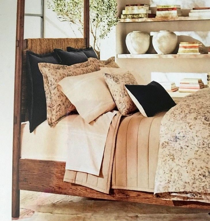 Ralph Lauren Corso Campania Blue Velvet Euro Pillow Sham MSRP $185
