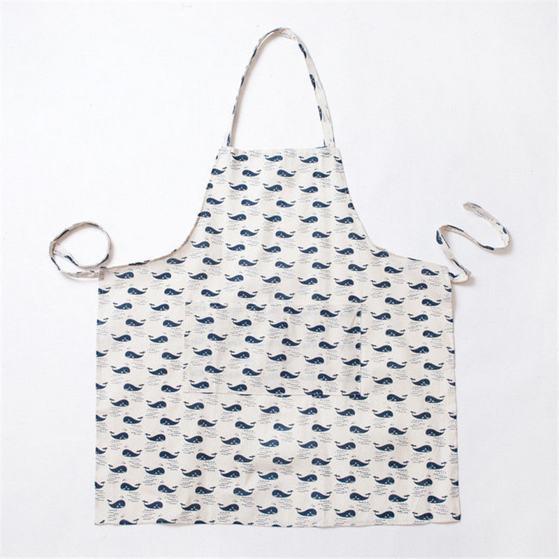 Animals Story Apron BBQ Sleeveles Pinafore Kitchen Cooking Cotton Linen Cloth