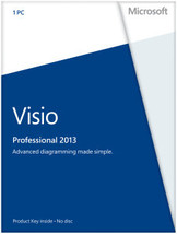 Microsoft Visio Professional 2013 - License - D... - $32.00