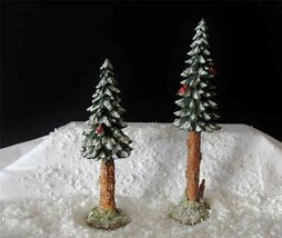 "DEPT 56 GENERAL VILLAGE ""TOWERING PINES"" SET OF 2 - NEW IN BOX - $14.70"