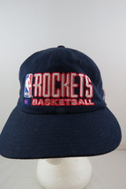 Houston Rockets Hat (VTG) - Wool Script Front By Champion- 90s Colouway-Snapback - $49.00