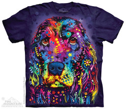 Russo Cocker Spaniel Dog Mountain Adult T-Shirts - $17.77+