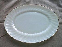 Anchor Hocking - Fire King - Swirl Golden Shell Milk Glass Platter - 13 in. - $22.99