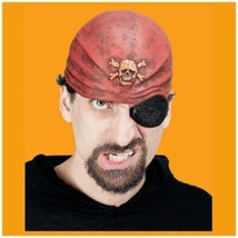 Pirate Costume Half Mask Cap Scarf Look w/ eye patch Halloween Scallywag... - $7.87