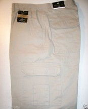 Mens Cargo Pants Flannel Lined Redhead  Stone 42x32 - $34.95