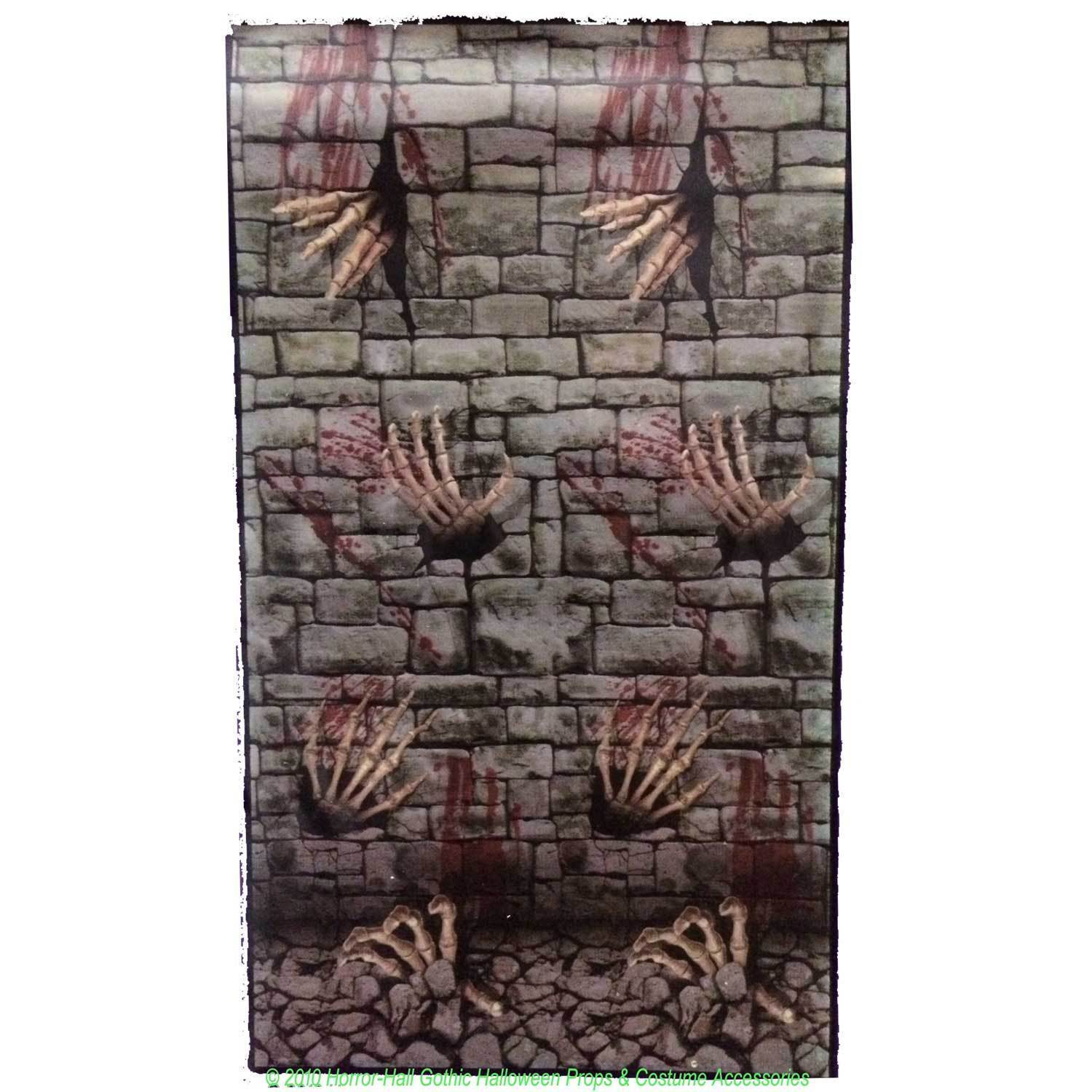 Gothic dungeon skeleton hands door cover stone wall poster - Poster decoratif mural ...
