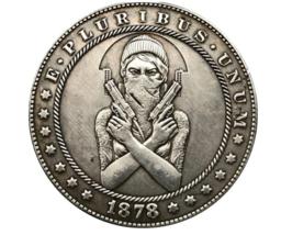 Hobo Nickel Dollar Biker Gangster Girl Gang Sexy Punk Rock US Art Caste... - $10.44