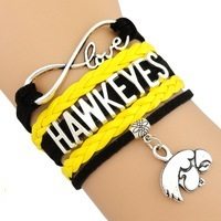 University of Iowa Hawkeyes Fan Shop Infinity Bracelet Jewelry