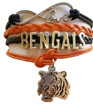 Cincinnati Bengals Football Fan Shop Infinity Bracelet Jewelry - $9.99