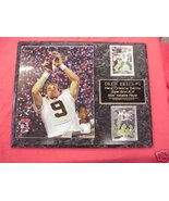 Drew Brees New Orleans Saints 2 Card Collector Plaque w/8x10 Super Bowl ... - $27.99