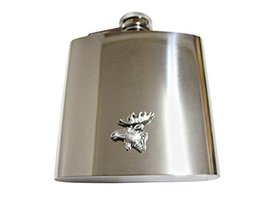 Moose Head 6 Oz. Stainless Steel Flask - $49.99
