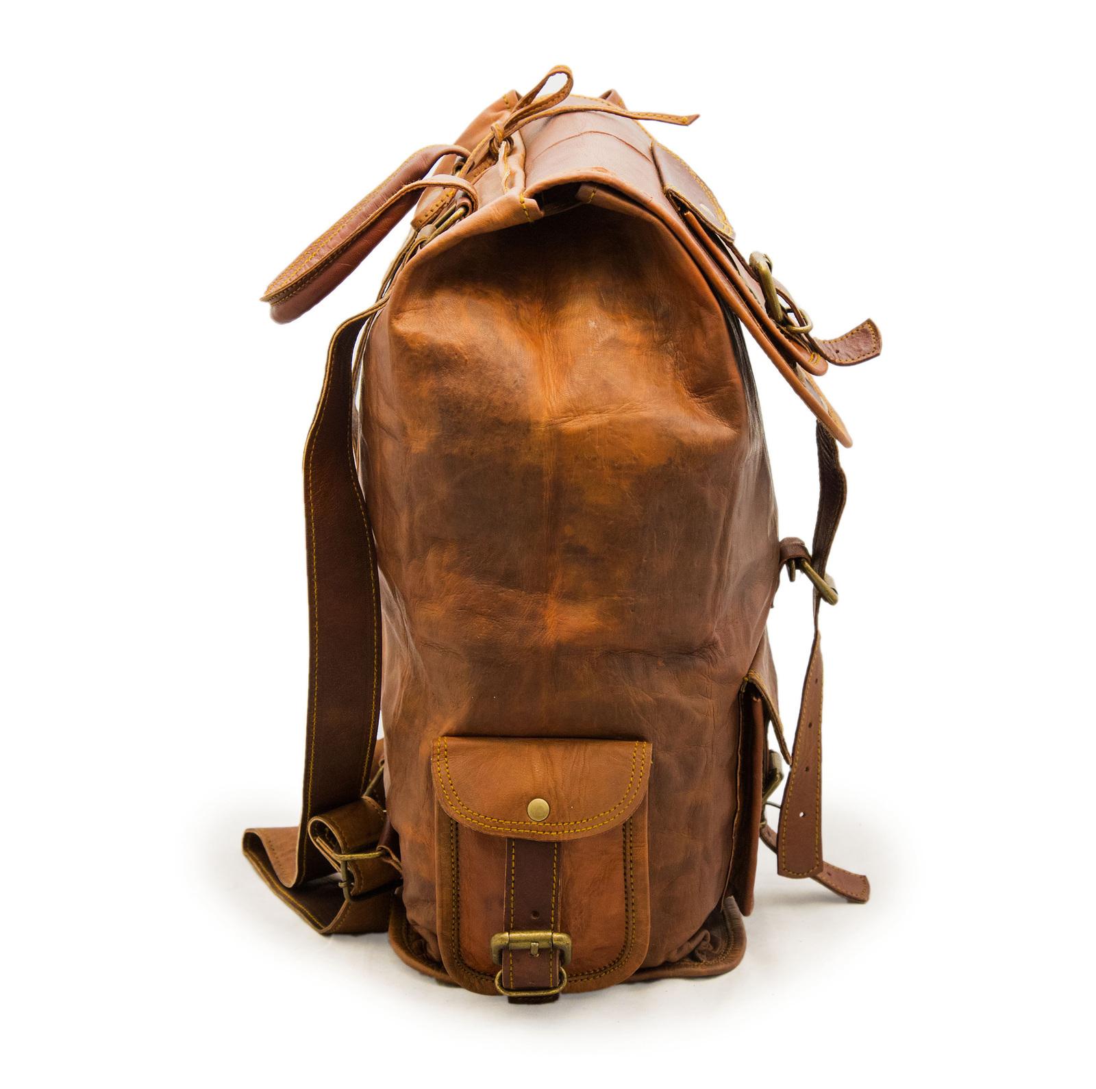 16″ Ladies Leather Backpack Knapsack For Travel & Laptop image 2