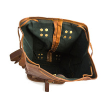16″ Ladies Leather Backpack Knapsack For Travel & Laptop image 4