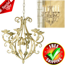 Antique Chandelier Wrought Iron Home Vintage In... - $56.42