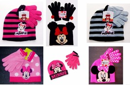 MINNIE MOUSE DISNEY Girls Knit Winter Beanies Trappers Hat & Gloves Set ... - $9.89+