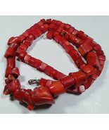 """Antique Rare Mediterranean Natural Red Coral Undyed Necklace Untreated 24"""" 86 Gr - $226.74"""