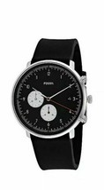 New Fossil Gents Chase Timer Chronograph Black Silicone Strap FS5484 Mens Watch - $74.73