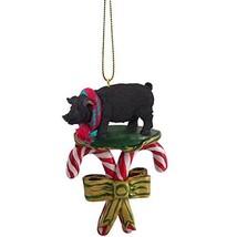 Pig Black Candy Cane Ornament - $12.99