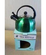 NEW GREEN APPLE 2.5L 2.65 QUART STAINLESS STEEL WHISTLING HOT TEA KETTLE... - $17.41