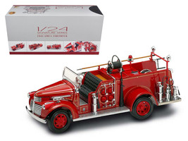 1941 GMC Fire Engine Red with Accessories 1/24 Diecast Model Car by Road Signatu - $113.03