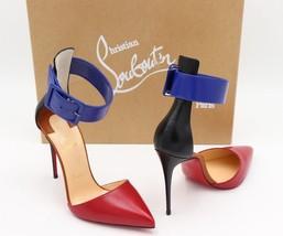 NIB Christian Louboutin Harler 100 Leather Ankle Strap Pump Heels 9.5 39.5 - $575.00